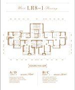 恒大花溪小镇2室2厅1卫89平方米户型图