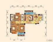 名都东方国际3室2厅2卫121--122平方米户型图