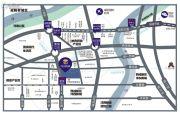 中铁港沣国际交通图
