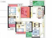 城市空间3室2厅2卫0平方米户型图