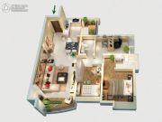 景业荔都3室2厅1卫113平方米户型图