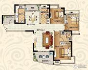 恒大绿洲3室2厅2卫123平方米户型图