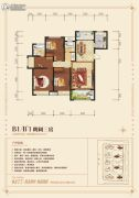 西峡财富新城3室2厅2卫140平方米户型图