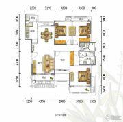富力红树湾4室2厅2卫140平方米户型图