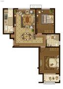 广厦・聚隆广场2室2厅1卫104平方米户型图
