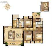 万科维园3室2厅2卫130平方米户型图