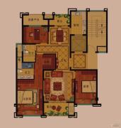 公元世家3室2厅2卫133平方米户型图