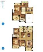 野风启城5室3厅2卫189平方米户型图