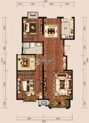 中冶世家3室2厅1卫113平方米户型图