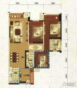 领地・国际公馆3室2厅2卫113平方米户型图