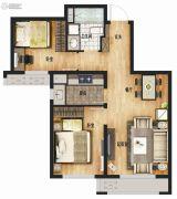 万科城2室1厅1卫79平方米户型图