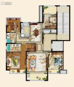 碧桂园德信・江山一品4室2厅2卫140平方米户型图