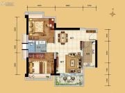 科恒岭南水岸2室2厅1卫70平方米户型图