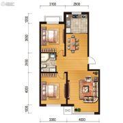 世百居・洪湖湾2室2厅1卫86平方米户型图