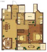 信达翰林兰庭3室2厅2卫95平方米户型图