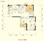 广泰锦苑3室2厅2卫107平方米户型图
