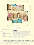 乾通・时代广场3室2厅2卫136平方米户型图