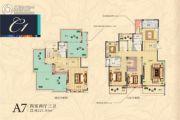 国润城4室2厅3卫221平方米户型图
