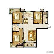 卓达上河原著3室2厅2卫139平方米户型图