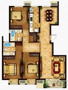 懿品府3室2厅2卫144平方米户型图