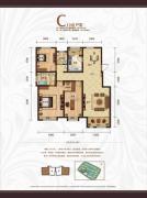 天鹅湖1号3室2厅2卫135--136平方米户型图