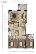 龙湖西宸原著420平方米户型图