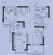 国奥天地3室2厅1卫94平方米户型图