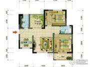 四通南城学府2室2厅1卫0平方米户型图