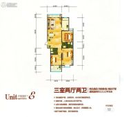 世纪荟萃广场3室2厅2卫0平方米户型图