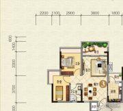 云山峰境花园2室2厅1卫70平方米户型图