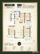 鑫界9号院4室2厅2卫220平方米户型图
