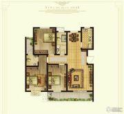 奥华蓝郡3室2厅2卫121平方米户型图