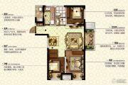 康桥九溪郡3室2厅1卫92平方米户型图