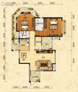 福庆花雨树3室2厅2卫114平方米户型图