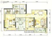 港城星座2室2厅2卫80--110平方米户型图