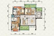 如愿居3室2厅2卫121平方米户型图
