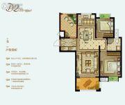 泓润新城华府3室2厅1卫89平方米户型图