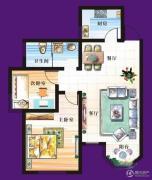 天赐椿城一期嘀嗒2室2厅1卫81平方米户型图