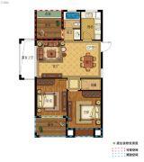 中建海西晓郡2室2厅1卫89平方米户型图