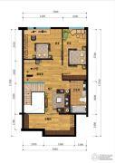 汇雄时代2室1厅1卫0平方米户型图