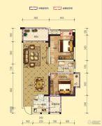 凤凰城1室2厅1卫75平方米户型图