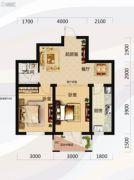 唐轩北廷2室2厅1卫63平方米户型图