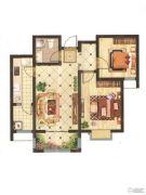山投・城尚城2室2厅1卫86平方米户型图