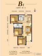 盛世名筑二期3室2厅1卫112平方米户型图