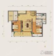 勒泰城2室2厅1卫94平方米户型图