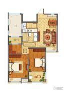 公元世家3室2厅1卫90平方米户型图