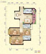 恒大御景半岛3室2厅2卫112平方米户型图