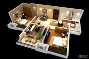 雅居乐林语城2室2厅1卫84平方米户型图