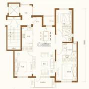 金融街・金色漫香苑3室2厅2卫140平方米户型图