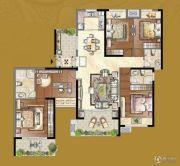 岳州帝苑4室2厅3卫174平方米户型图
